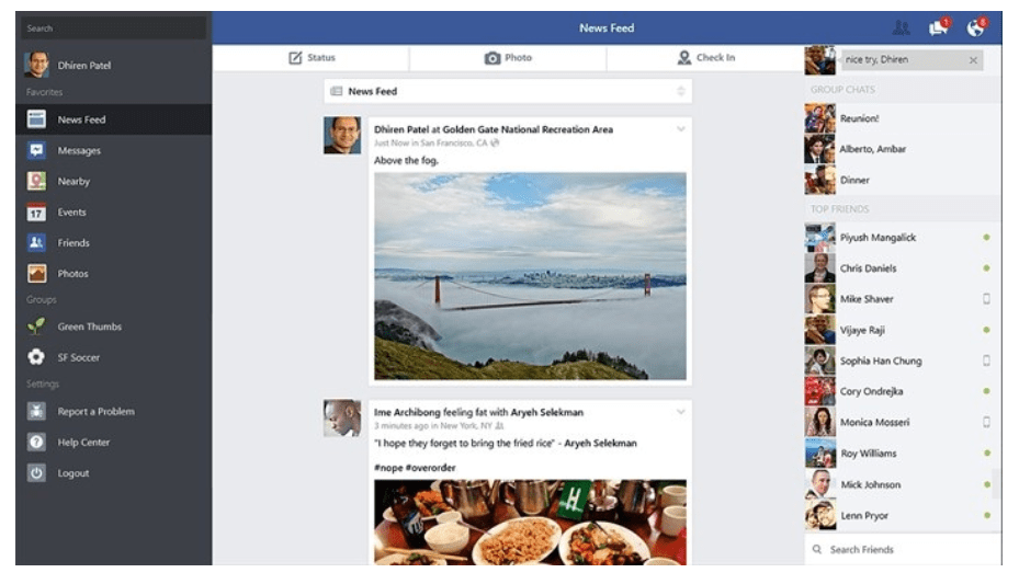 Download Facebook App for Windows
